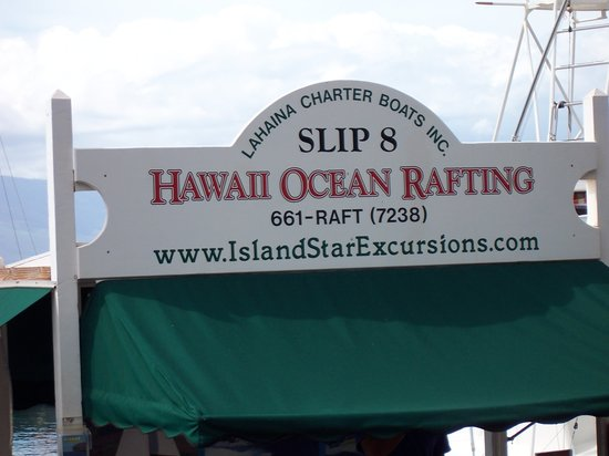 Hawaii Ocean Rafting : Sign and Contact info