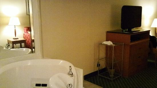 Baymont Inn & Suites Madison Heights Detroit Area: TV and whirlpool in living room