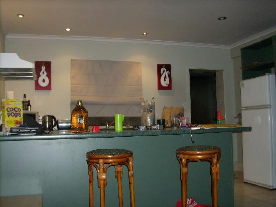Atsala Apartment Stay: The gorgeous kitchen (please note my kids had already destroyed how pretty it looked when we arr
