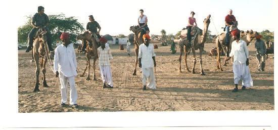 Hotel Roop Mahal: Camel safari from Roop Mahal