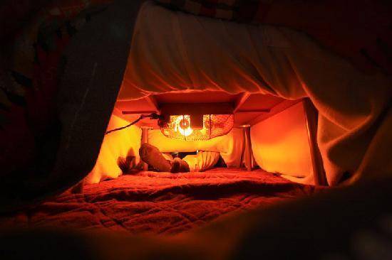 Senshinkan Matsuya: kotatsu heated table to keep your feet warm