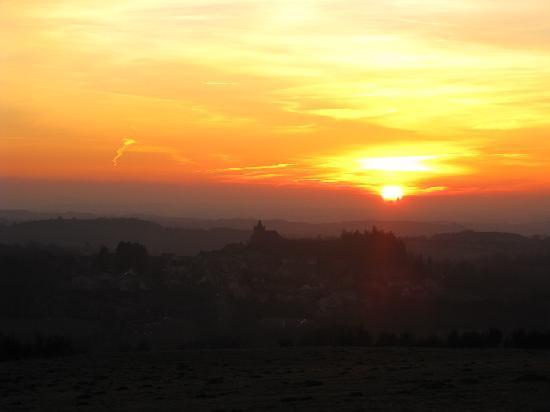Coucher de soleil sur Laguiole