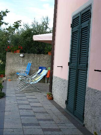 NiRia : View from front door (note the room patio door traditional green shutters)