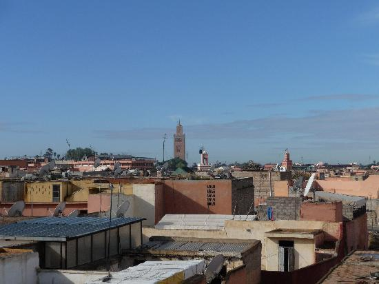 Beautiful Roof Terrace View from Riad Radia