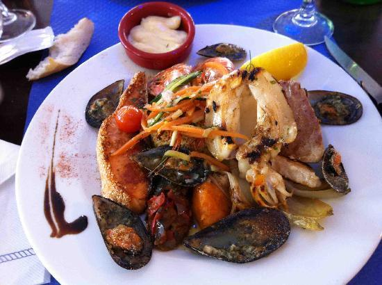 Valras-Plage, France: assiette du pecheur