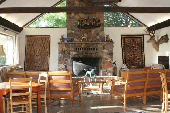 Elkhorn Ranch: The sitting area inside the Long House