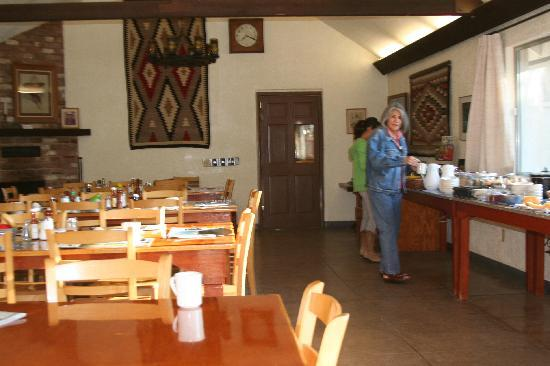 Elkhorn Ranch: The eating area inside the Long House