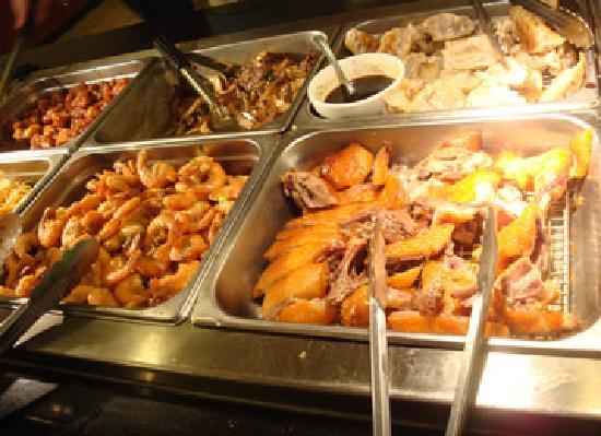 Asian buffet food