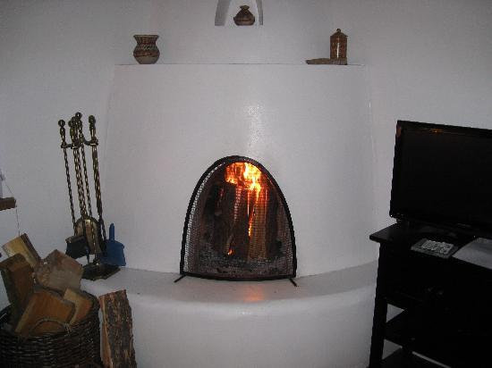 Campanilla Compound: Loved the kiva fireplace!