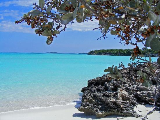 George Town, Great Exuma: view of beach in walking distance