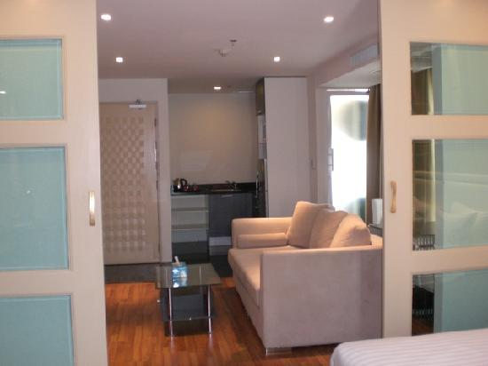 Bless Residence: Living Area and Kitchen