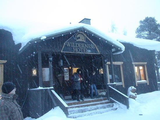 Nellim, Finland: Entrance of the hotel