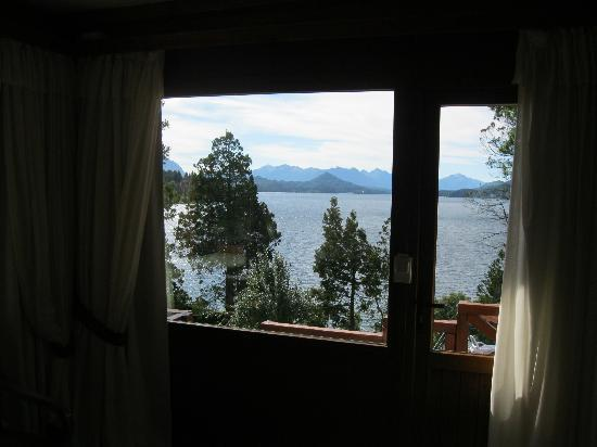 Charming Luxury Lodge & Private Spa : view from the bed