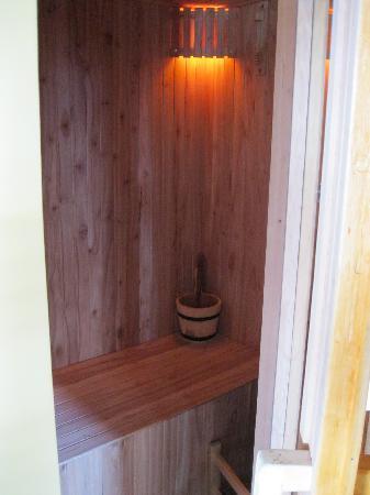 Charming Luxury Lodge & Private Spa : private sauna
