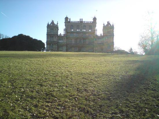Wollaton Hall and Park: View of the front on a Feb sunny morning
