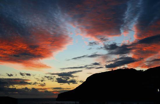 Hotel La tartana: Sunset over the Cerro Gordo