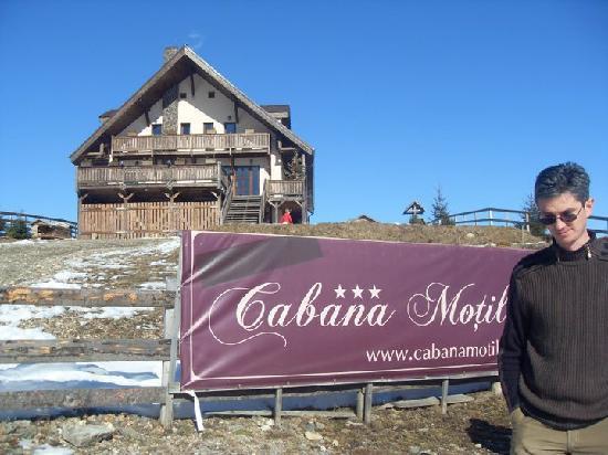 Cabana Motilor: Sebi, the host waiting for us.