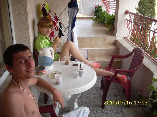 Dom Mladenovi Bed & Breakfast: our balcony