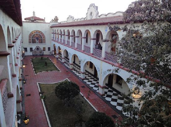 Central courtyard at Urdinola Hotel in Saltillo, Mexico.