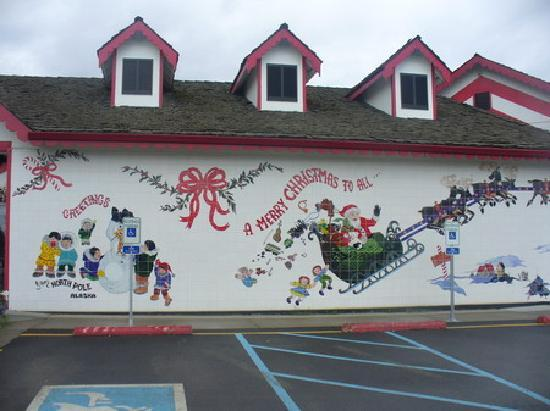 North Pole, AK: part of the outside, Santa Claus house