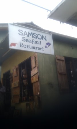 Samson Restaurant: watch for this sign