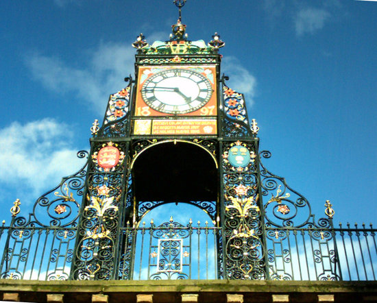 Честер, UK: The Eastgate Clock