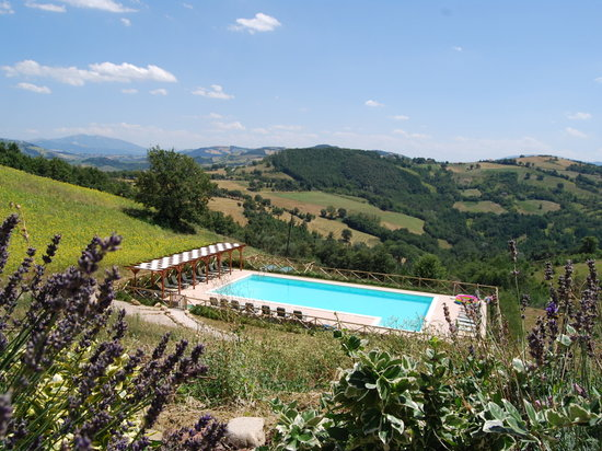 Villa Pian Di Cascina: Pool with a view near Peruiga and Gubbio