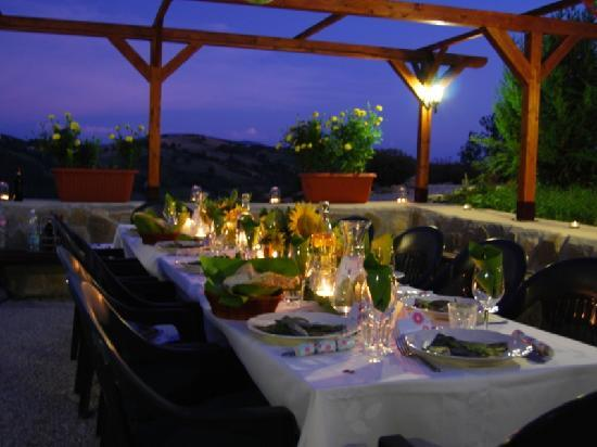 Villa Pian Di Cascina: The East Terrace - perfect alresco dining near Assisi