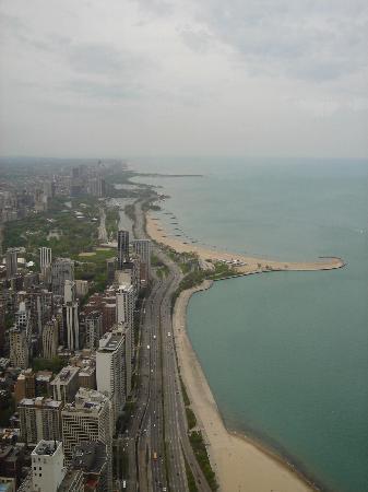 Chicago, IL: lake michigan von oben