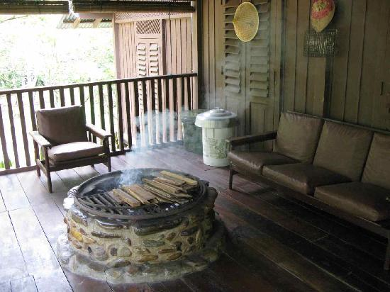 The Kebun: Our porch where we found ourselves lounging a lot