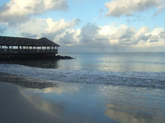 St. Lucia: morgan pier, almond morgan bay