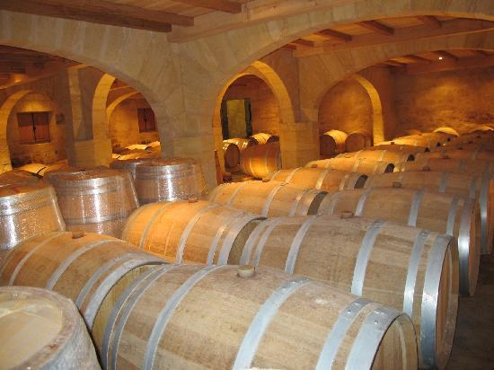 Chateau de Mole: Barrel storage room