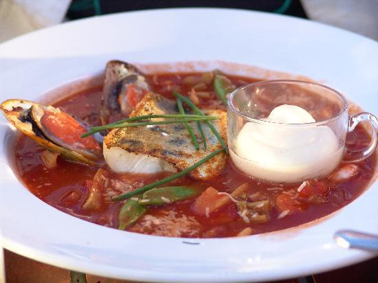 The Sandhamn Yacht Hotel: Fish soup