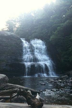 Swallow Falls State Park: one of the beautiful waterfalls at swallow falls