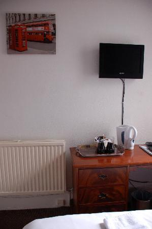 Edinburgh Thistle Guest House: Wall picture and televisoin