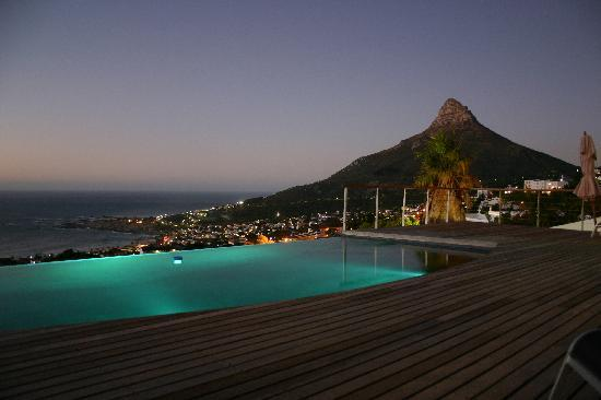 View Of Lions Head And One Of The Infinity Pools Picture Of - House cape town amazing infinity pool
