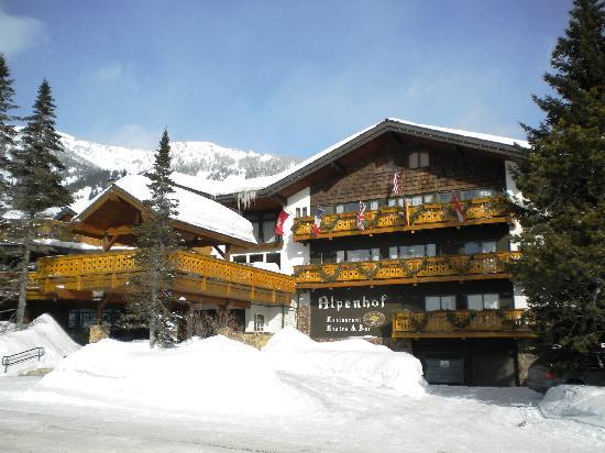 Alpenhof Lodge: a foot of snow had fallen the night before ; )