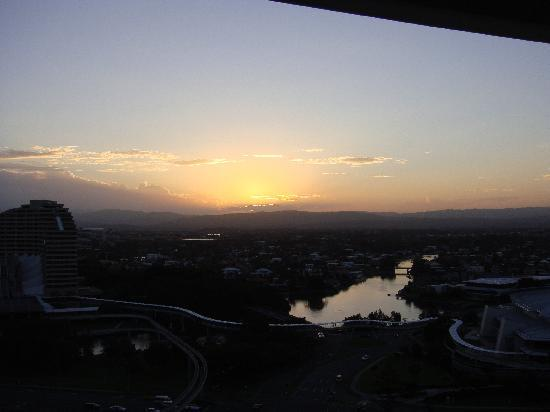 The Wave Resort: sunset from hinterland balcony
