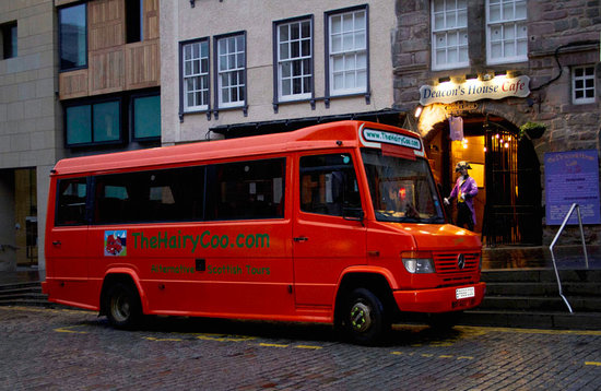 Hairy Coo Bus At Deacon S House Cafe Picture Of The