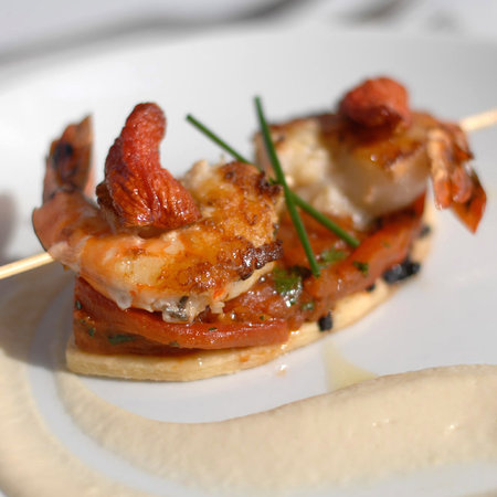 Gastro MK at Maison MK: scallop & king prawn skewers