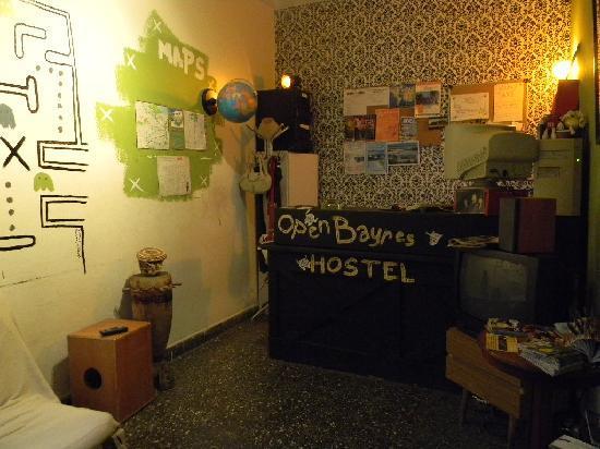 Open Bayres Hostel: recepción