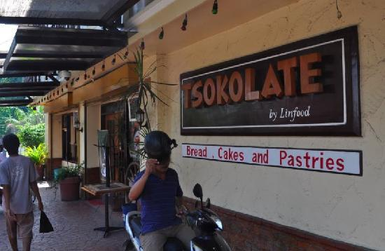 Tsokolate: Outside the cafe-restaurant