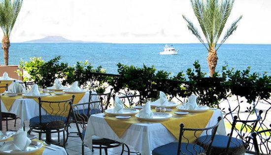Mediterraneo Restaurant: Seaside dining terrace