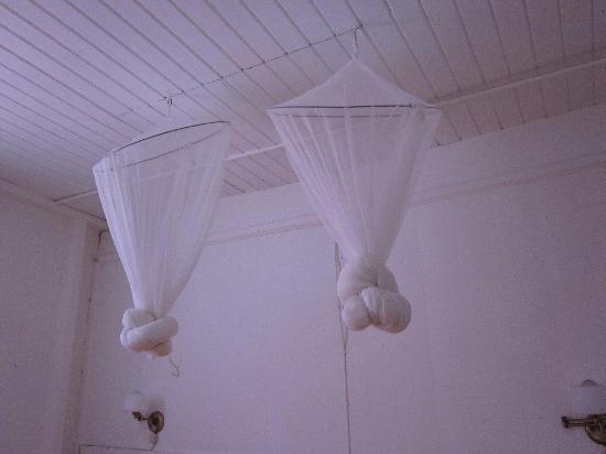 Frangipani Hotel: Mosquito nets