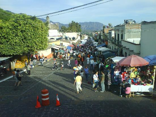 Tepoztlan, Mexique : El Tianguis o Mercado