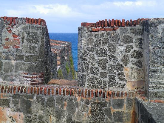 San Juan, Puerto Rico: View of Atlantic through city walls