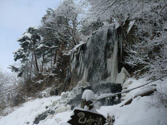 Chino, Japan: 冬の乙女滝