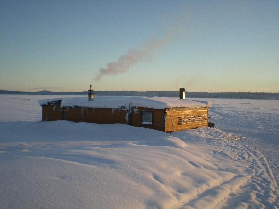 Camp Alta: The sauna at the lake