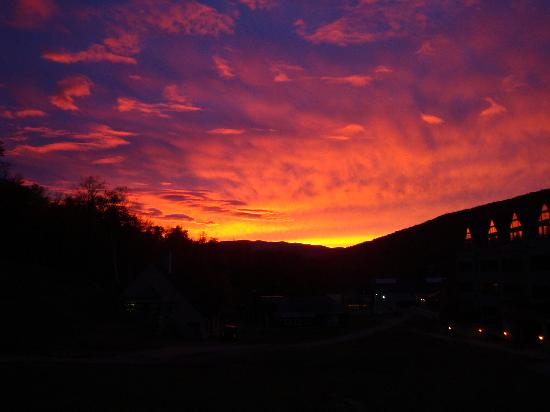 Sunset Over The Mountain Club On Loon Picture Of