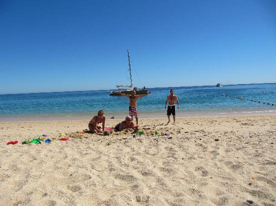 Chileno Beach: Us on the beach.